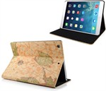 Worldmap Look Case  - iPad Air (Cream)