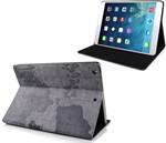 Worldmap Look Case  - iPad Air 1 (Grey)