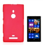 Hard Silicone Cover - Nokia 925 (Red)