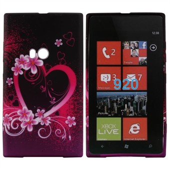 Image of   Motiv Silikone Cover til Lumia 920 (Heart)