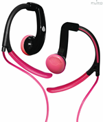 Puro Earhook Headset for MP3/Smartphone/Tabs - Pink