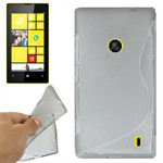 S-Line Silikone Cover Lumia 520 (Transparent)