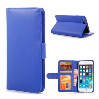 Simple iPhone 6 / 6S Læderetui - blå