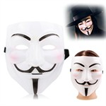 V for Vendetta Mask - Hvid