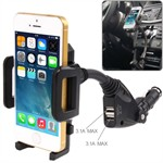 Universal Car Charger Holder - 2 USB Porte