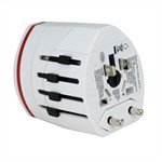 World Travel Power Adapter / Converter med Dobbelt USB-port / US-UK-AU-EU