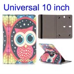 Beautiful Miss Owl Pattern roterende Etui til Tablet - Universal 10""