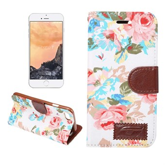 Image of   Flower Premium Etui til iPhone 7 / iPhone 8 - Hvid