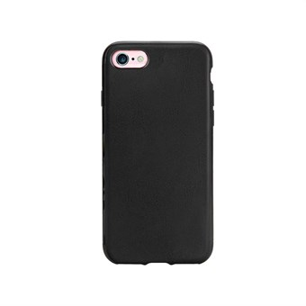 Image of   Imiteret Læder Cover til iPhone 7 / iPhone 8 - Sort