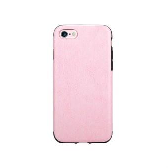 Image of   Imiteret Læder Cover til iPhone 7 / iPhone 8 - Lyserød