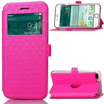 Image of   Trendy Window Etui til iPhone 7 Plus/ iPhone 8 Plus - Pink