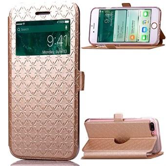 Image of   Trendy Window Etui til iPhone 7 Plus / iPhone 8 Plus - Golden