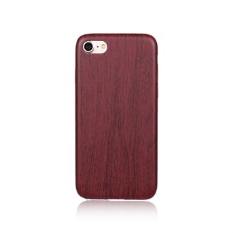 Image of   Leather Look Silikone Cover til iPhone 7 / iPhone 8 - Bordeaux