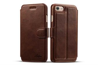 Image of   Case Etui til iPhone 7 Plus / iPhone 8 Plus - Mørkebrunt