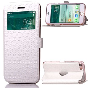 Image of   Fancy Smart Window Etui til iPhone 7 / iPhone 8 - Hvid