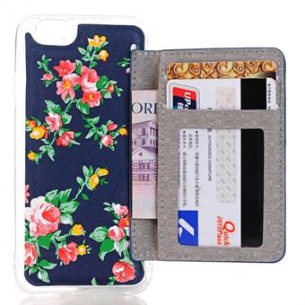 Image of   Blomster Pauw Cover til iPhone 7 / iPhone 8 - Blå sommer blomster