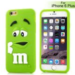 M&Ms 3D  gummi Cover - iPhone 6 Plus / 6S Plus (grøn)