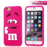 M&Ms 3D gummi Cover - iPhone 6 Plus / 6S Plus (magenta)