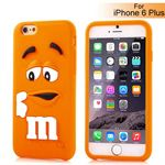M&Ms 3D gummi Cover - iPhone 6 Plus / 6S Plus (orange)