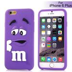 M&Ms 3D gummi Cover - iPhone 6 Plus / 6S Plus (lilla)