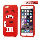 M&Ms 3D gummi Cover - iPhone 6 Plus / 6S Plus (rød)