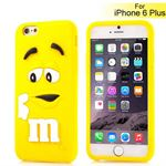 M&Ms 3D gummi Cover - iPhone 6 Plus / 6S Plus (gul)