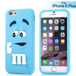 M&Ms 3D gummi Cover - iPhone 6 Plus / 6S Plus (lyseblå)