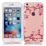 Simpel transperents iPhone 6 / 6S silicone cover Plum Blossom