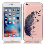 Simpel transperents iPhone 6 / 6S silicone cover Feather And Eagle