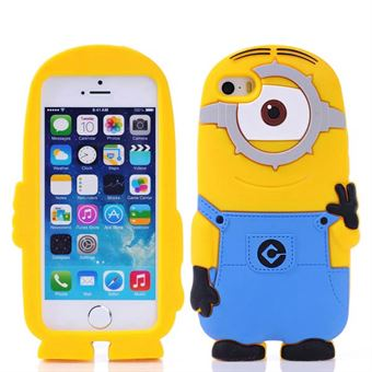 Image of   Silikone Minion Cover til iPhone 5/5S/SE