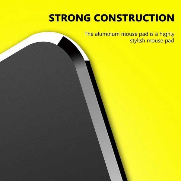 Musemåtte i Aluminium m/ silikone bund 24x18 cm