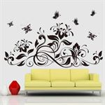 Wall Stickers - Blomster & Sommerfugle