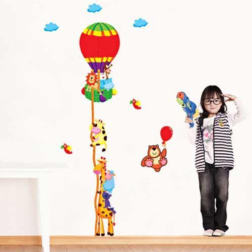 wall stickers - luftballon m. børn