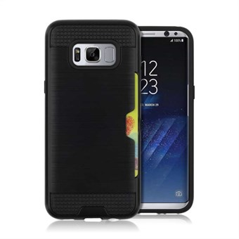 Cool slide Cover i TPU og plast til Samsung Galaxy S8 - Sort