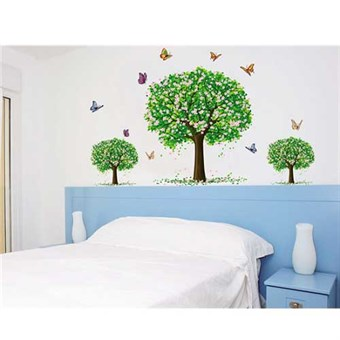 Image of   TipTop Wallstickers Butterfly and Green Tree