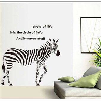 Image of   TipTop Wallstickers Black Zebra Animal