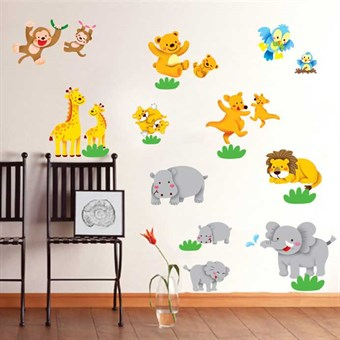 Image of   TipTop Wallstickers Cartoon Animals Pattern