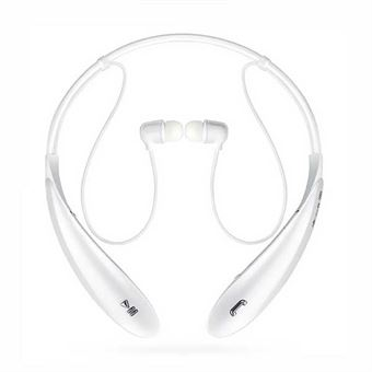 Image of   Wireless Bluetooth headset m. mic+remote - Hvid