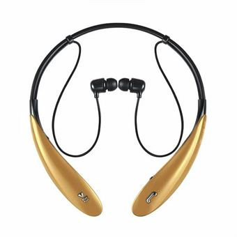 Image of   Wireless Bluetooth headset m. mic+remote - Guld