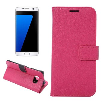 Image of   Magnet etui Galaxy S7 Edge etui (rose rød)