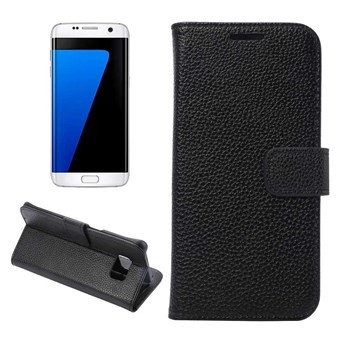 Magnet etui Galaxy S7 Edge etui (sort)
