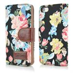 Flower Premium Etui til iPhone 5/5S/SE - Sort