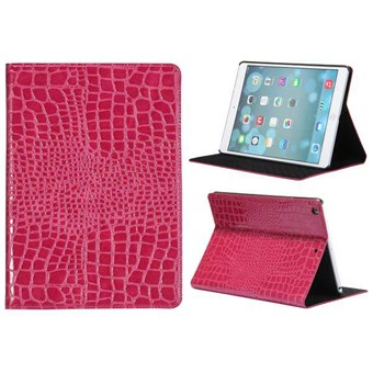 Image of   Krokodille iPad Air 1 læder etui (magenta)