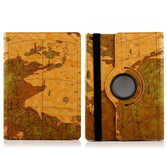 Image of   360 rotation etui 2016 udgave worldmap Air 2 (Desert Tan)