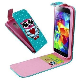Image of   Flip kreditkort cover S5 mini Lovely Owl