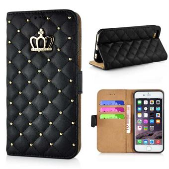 Image of   Crown Etui til iPhone 6 / 6S - Sort