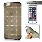 Cube bling silikone cover iPhone 6 Plus / 6S Plus (sort)