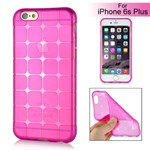Cube bling silikone cover iPhone 6 Plus / 6S Plus (magenta)