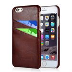 Fashion Leather Cover til iPhone iPhone 6 / 6S - Brun