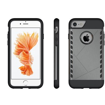 Image of   Eksklusive silikone/plastik cover til iPhone 7 / iPhone 8 - Grå
